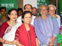 Bangla-Academy-Book-Fair-launching-of-Banglapedia-CD version-with-members-of-banglapedia-team-and-others