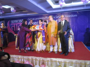 Receiving International Women's Day Award on 8 March 2015 at Dhaka, Bangladesh