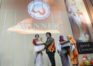 Receiving Platinum Award as Best Director from the Minister for Environment, Indonesia on the occasion of International Women's Day 2016.
