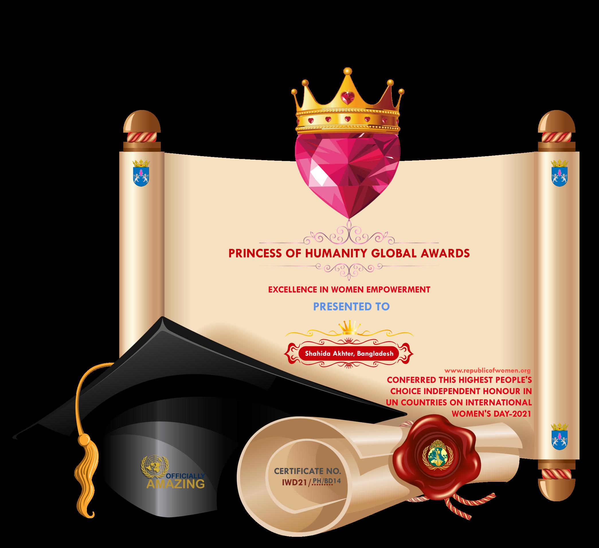 Award on International Women's Day 2021